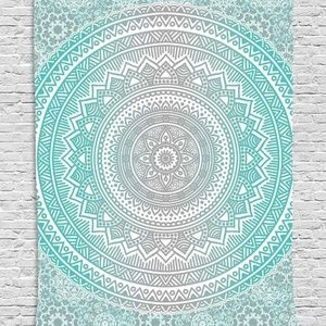 Tapestry Ethnic Flower Print Wall Hanging Backdrop
